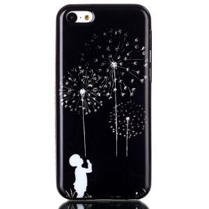IMD TPU Phone Protective Case Shell for iPhone 5C - Boy and Dandelion