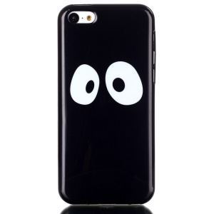 Patterned IMD TPU Phone Protective Case Shell for iPhone 5C - Big Eyes