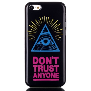 IMD TPU Phone Protective Case Shell for iPhone 5C - Eye and Quote