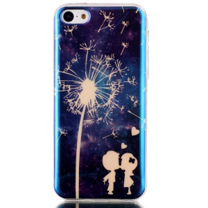 Blu-ray IMD TPU Back Cover for iPhone 5c - Dandelion and Lover