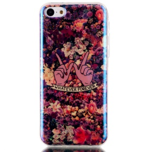 Blu-ray IMD TPU Back Phone Cover for iPhone 5c - Blooming Roses