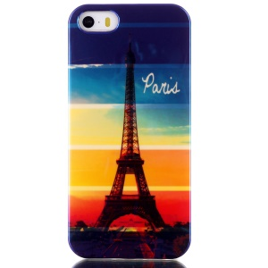 Blu-ray IMD TPU Gel Case for iPhone 5s 5 - Eiffel Tower