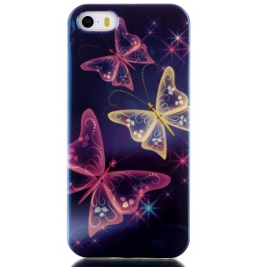 Blu-ray IMD TPU Shell Case for iPhone 5s 5 - Vivid Butterflies