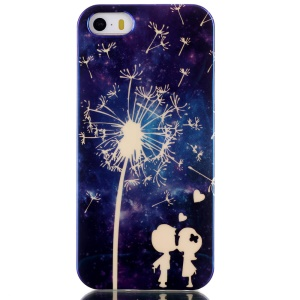 Blu-ray IMD TPU Phone Case for iPhone 5s 5 - Dandelion & Lovers
