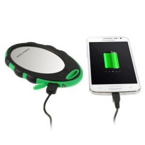 5000mAh Mirror Style External Power Bank Battery Charger for iPhone Samsung HTC Sony - Green / Black