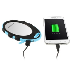 5000mAh Mirror Style Power Bank Battery Backup Charger for iPhone Samsung HTC Sony - Black / Blue