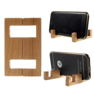 Simple Style Rosewood Stand Mount for iPhone Samsung Sony