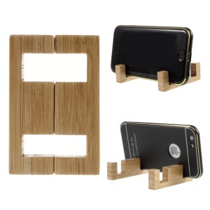 Simple Style Bamboo Stand Mount for iPhone Samsung Sony