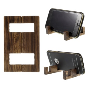 Simple Style Sapele-wood Stand Mount for iPhone Samsung Sony