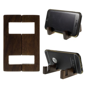 Simple Style Black Walnut Wood Stand Mount for iPhone Samsung Sony