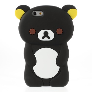 Rilakkuma Bear Silica Gel Case for iPhone 6 4.7 Inch - Black