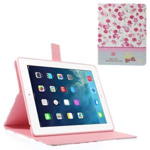 Rhinestone Vivid Flower Lace Smart Leather Wallet Case for iPad 2 3 4