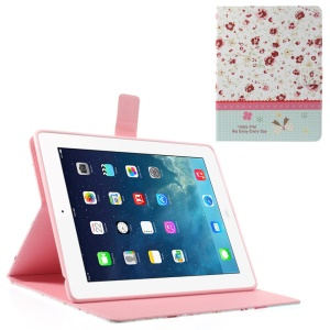 Rhinestone Red Floret Lace for iPad 2 3 4 Smart Leather Wallet Case