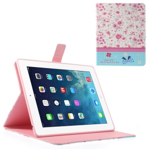 Rhinestone Vivid Flower Lace for iPad 2 3 4 Smart Leather Wallet Cover