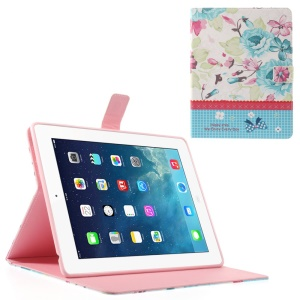 Colorful Blossom Lace for iPad 2 4 the New iPad Smart Leather Folio Stand Cover