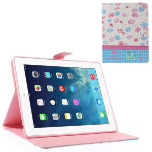 Colorful Floret Lace for iPad 2 4 the New iPad Smart Leather Folio Stand Shell