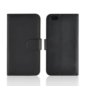 PU Leather Folio Wallet Bracket Cover for iPhone 6 4.7 inch - Black