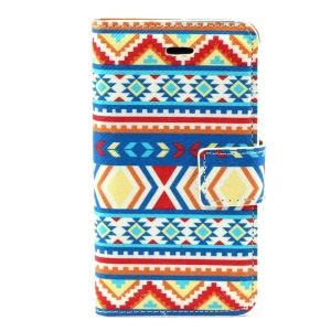 Tribal Tribe Leather Stand Case w/ Card Slots for iPhone 4s 4