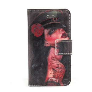 Beauty in the Hat Magnetic Leather Stand Case for iPhone 4s 4