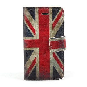 Vintage Union Jack Flag Magnetic Leather Stand Cover for iPhone 4s 4