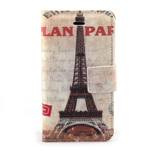 Famous Eiffel Tower Magnetic Leather Case w/ Stand for iPhone 4s 4