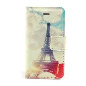 Paris Eiffel Tower Magnetic Leather Case Stand for iPhone 4s 4