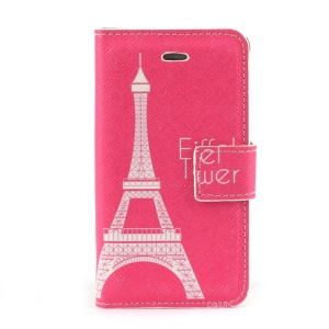 Famous Eiffel Tower Leather Stand Cover w/ Card Slots for iPhone 4s 4
