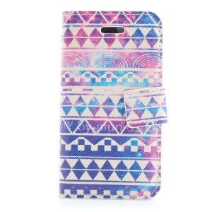 Tribal Tribe Magnetic Leather Stand Case for iPhone 4s 4