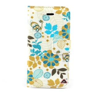 Beautiful Flowers Magnetic Leather Stand Case for iPhone 5c