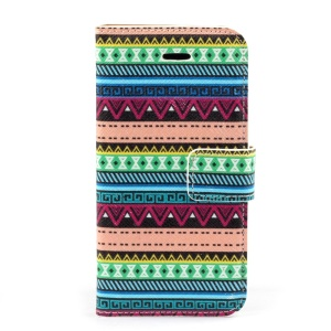 Tribal Tribe Magnetic Leather Case w/ Stand for iPhone 5c