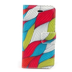 Hemp Stripes Magnetic Folio PU Leather Stand Case for iPhone 5s 5
