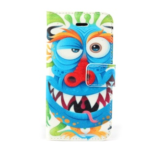 Funny Cartoon Magnetic Folio PU Leather Stand Cover for iPhone 5s 5