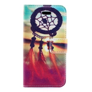 Sunset Dream Catcher PU Leather Stand Cover for iPhone 5s 5
