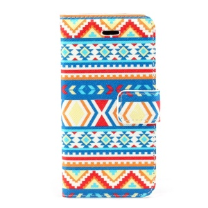 Tribal Tribe Leather Magnetic Cover w/ Card Slots for iPhone 5s 5