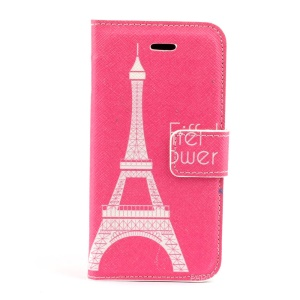Paris Eiffel Tower Leather Magnetic Cover for iPhone 5s 5