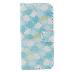Multiple Clouds Leather Stand Cover Accessory for iPhone 6