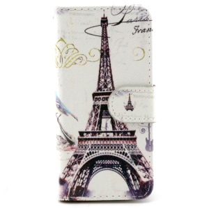 Famous Eiffel Tower Magnetic Leather Case Stand for iPhone 6