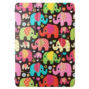 LOFTER Tri-fold Stand Smart Leather Case for iPad Air - Classic Elephant