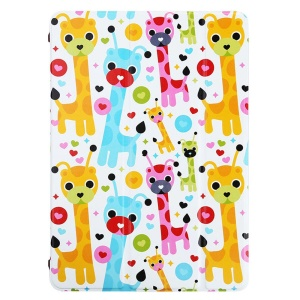 LOFTER for iPad Air Tri-fold Stand Smart Leather Cover - Showing Off Deer