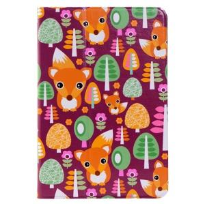 LOFTER Le Series Swivel Stand Smart Leather Case for iPad mini / mini 2 / mini 3 - The Fox Family