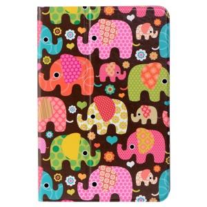 LOFTER Le Series Swivel Stand Smart Leather Cover for iPad mini / mini 2 / mini 3 - Classic Elephant