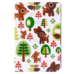 LOFTER Le Series Smart Leather Case Swivel Stand for iPad mini / mini 2 / mini 3 - The Dark Forest Deer