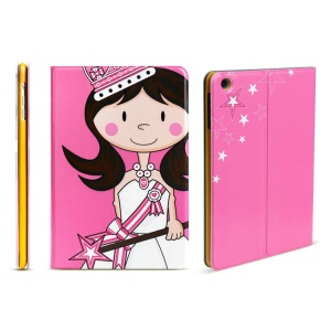 LOFTER Magic Princess Series Slim Leather Smart Case with Stand for iPad mini - Rose