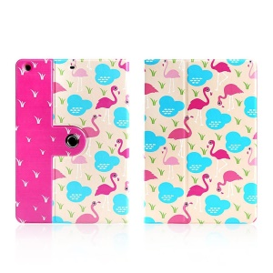 LOFTER Smart Leather Case Cover w/ Swivel Stand for iPad mini / mini 2 / mini 3 - Fashion Flamingo