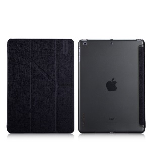 MOMAX Flip Y-shaped Stand Smart Leather Case for iPad Air - Black