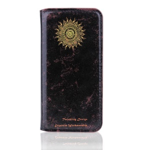 Vintage Leather Stand Case for iPhone 5s 5 - Wheel of Fortune