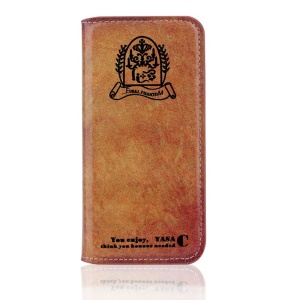 Vintage Folio Leather Stand Case for iPhone 5s 5 - God Book