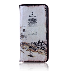 Vintage Leather Stand Case Cover for iPhone 5s 5 - Roman Times