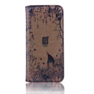 Vintage Folio Leather Case Stand for iPhone 5s 5 - Dusk Secret