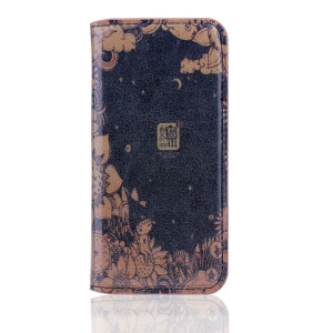 Vintage Leather Stand Cover for iPhone 5s 5 - Night Secret